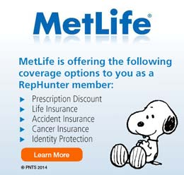 MetLife coverage options for RepHunter Members with Snoppy