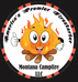 Montana Campfile Logo flame person in a circle