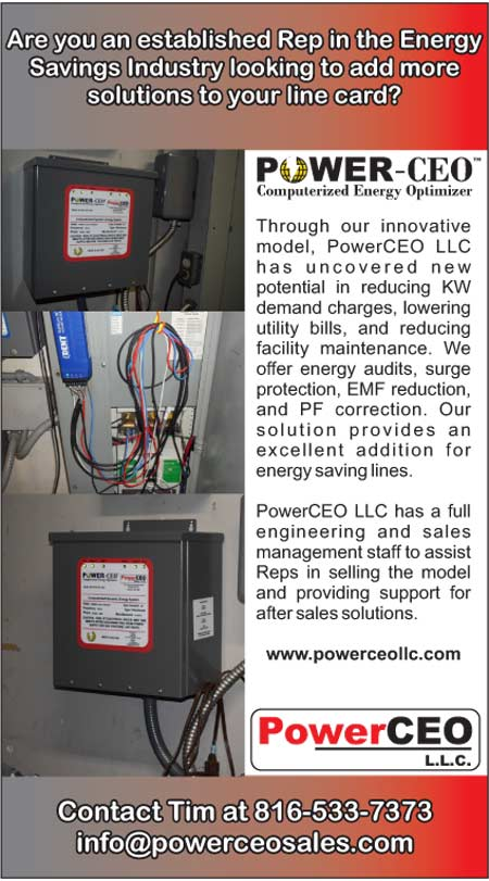 PowerCEO reduces KW demand charges, lowering utility bills, and reducing facility maintenance. Offer energy audits surge protection EMF reduction and PP correction