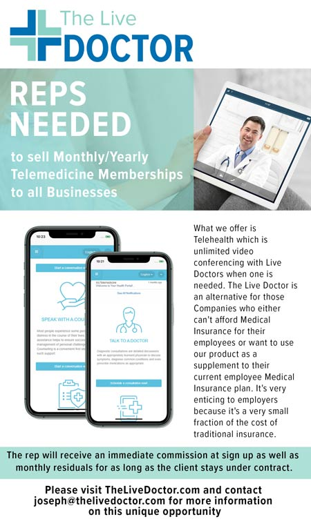 The Live Doctor. Telemedicine memberships to all businesses. Video conferences with a doctor.