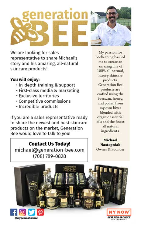 Generation Bee Logo All-Natural Skincare products