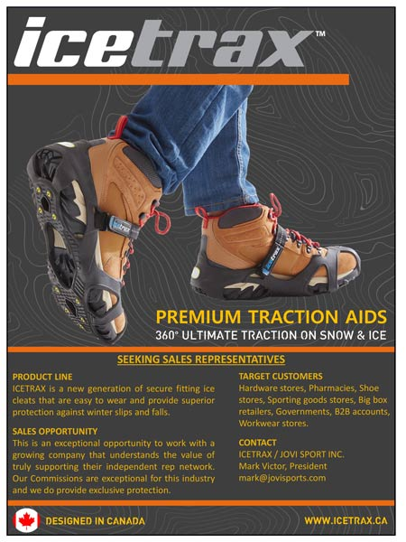 IceTrax traction aids. Cleats attach to shoes. Provide superior production against winter slips and falls