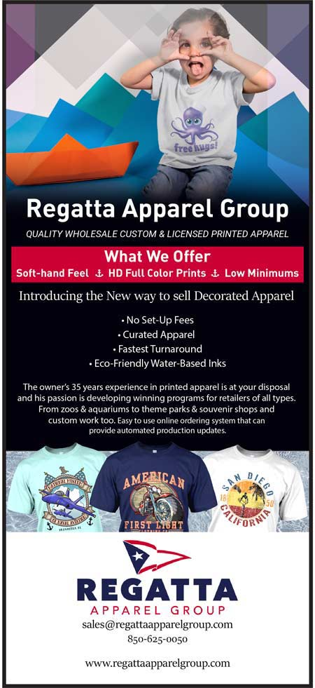 Regatta Apparel Group. Wholesale Custom & Licensed Printed Apparel. Soft-hand feel, HD Full Color Prints, Eco-Friendly Water-Based Inks.